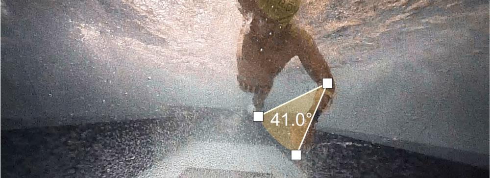 Jones swim at 41 degrees for maximum power