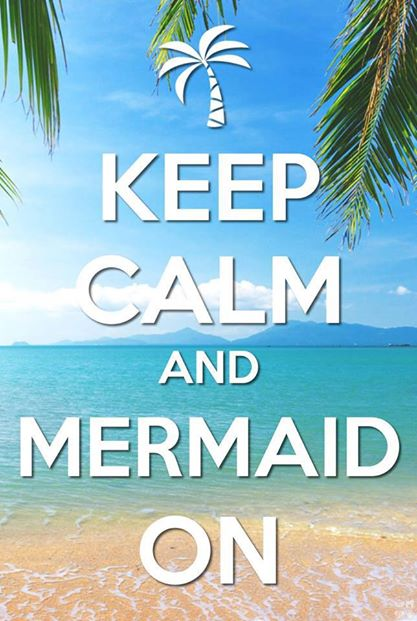 Keep Calm Mermaid On Eney Jones