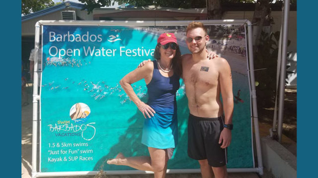 Eney Jones in Barbados Open Water Swim